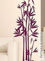 Walltatoo: Bambus L Aubergine