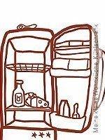 Tapete: Meine kleine Wohnküche, Kühlschrank
