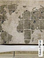 Tapeten  - Brandklasse: M1 - Moderne Muster News Planet