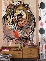 Tapete  - Wasserdampfdurchlässig Stoned Owl