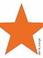 Tapete  - Wasserdampfdurchlässig Sterne, orange