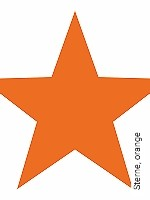 Tapete  - mehrfach überstreichbar Sterne, orange