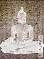 Tapete  - Asia Chanting Buddha