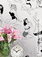 Tapete: Pin-up Wallpaper, Black&White