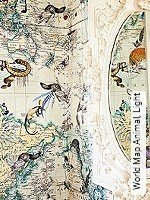 Tapete  - Landkarte World Map Animal, Light