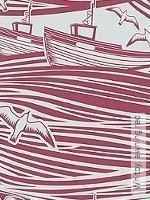 Tapete: Whitby, awning red