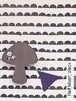 Tapete  - Streifen - moderne Tapeten Half Moon, black
