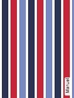 Tapeten  - Streifen - rot Manuel