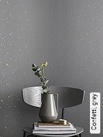 Tapete  - Anthrazit Confetti, grey