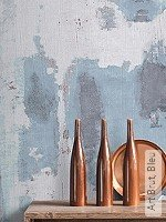 Tapete  - Blau Art Brut, Bleu