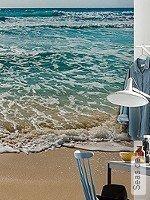 Tapete  - Blau Seaside