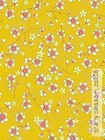 Tapete  - Gelb cherry blossom, 06