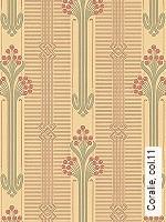 Tapete  - Grün - Klassische Muster Coralie, 11