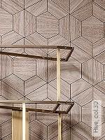 Tapete  - Hellbraun - Grafische Tapeten Hive, 30
