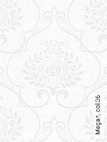 Tapete  - Klassische Muster - Perlmutt Megan, 06