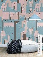 Tapeten  - Rosa - Moderne Muster Blue-Pink Edition