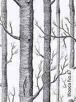 Tapete  - Schwarz - moderne Tapeten Woods No.47