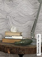 Tapeten  - Schwarz - Moderne Muster Seascape, winter