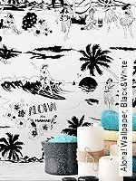 Tapete  - Schwarz - moderne Tapeten Aloha! Wallpaper, Black&White