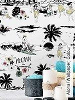 Tapeten  - Schwarz - Moderne Muster Aloha! Wallpaper, Colour