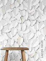 Tapete  - Weiß Leaves, 06