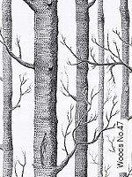 Tapete  - Weiß - moderne Tapeten Woods No.47
