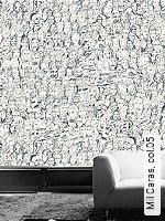 Tapete  - Weiß - moderne Tapeten Mil Caras, 05