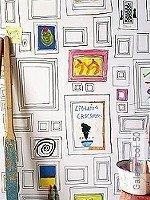 Tapete  - Weiß Galerie,  50