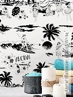 Tapete: Aloha! Wallpaper, Black&White