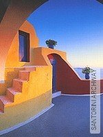Tapete  - Hansadecor SANTORINI ARCHWAY