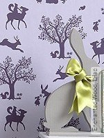Tapete  - Hibou Home Enchanted Wood, Lilac
