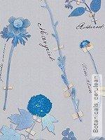 Tapete: Botanicals, cerulean