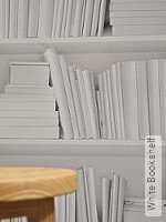 Tapete: White Bookshelf
