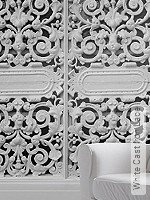 Tapete: White Cast Iron Lace