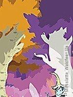 Tapete: Messlatte, Waldfeen lila