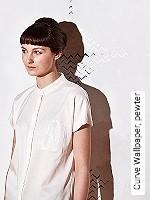Tapete  - Blattsilber Curve Wallpaper, pewter