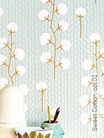 Tapete  - Leimdruck Sweet Cotton, 02