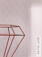 Tapete  - Grau - Grafische Tapeten Karmen, 09