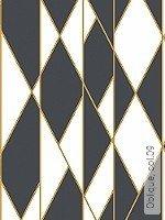 Tapete  - Weiß - Grafische Tapeten Oblique, 09