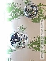 Tapete  - Klassische Muster Peter Pan, pea green on cream