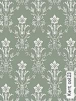 Tapeten  - Grün - Klassische Muster Kent, 23