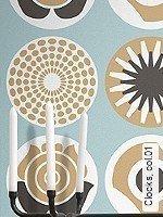 Tapeten  - Hellbraun - Moderne Muster Clocks, 01