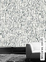 Tapete  - Zeichnungen - moderne Tapeten Mil Caras, 05