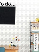 Tapeten  - Rauten - Moderne Muster Harlequin, grey
