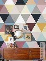 Tapete  - Vintage Tapeten Mosaic, soft