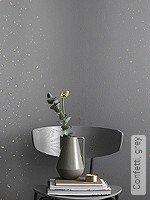 Tapete  - Vliestapeten Confetti, grey