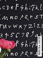 Tapete  - Buchstaben - NEUE Tapeten Mathilda, 06