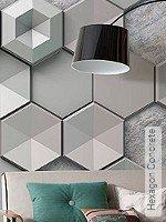 Tapete  - NEUE Tapeten Hexagon Concrete