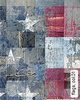 Tapeten  - Shabby Chic flags, 01