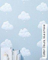Tapeten  - Tapeten für das Schlafzimmer Cotton Clouds, blue smoke